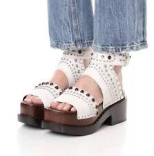3.1 Phillip Lim Studded EU 39 Us 9.5 Nashville Sandals Platforms Suede Leather