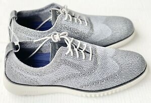 Cole Haan 2 Zerogrand Gray Stitchlite Wingtip Men's Size 11.5 C27565 Brand New