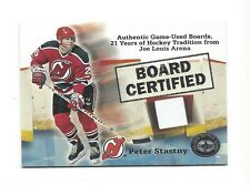2001-02 GREATS OF THE GAME BOARD CERTIFIED PETER STASTNY GAME-USED BOARD #5