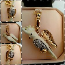 NEW IN BOX NWT Juicy Couture Pave Cockatoo Charm Bird Parrot Wings Move YJRU4958
