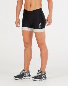 "New 2XU Women Perform 4.5"" Tri Shorts WT4860b Swim Ride Run Triathlon Small"