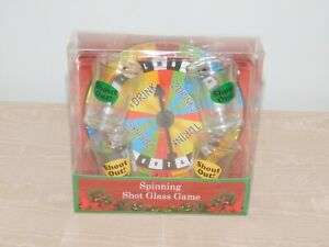 PARTY DRINKING LIQUOR SPINNING SHOT GLASS GAME NEW