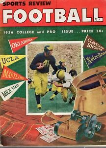 1956 SPORTS REVIEW FOOTBALL YEARBOOK-COLLEGE/PRO-TED KRESS-MICHIGAN COVER