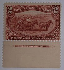 Travelstamps: 1898 US Stamps Scott# 286, mint, og, hinged, Farming in the West