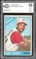 1966 Topps #180 Vada Pinson Card BGS BCCG 10 Mint+