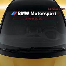BMW Motorsport WINDSHIELD CAR STICKER vinyl decal 3-5 Series M3 M5 M6 X5 X6