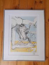 """Lithographie , Salvador Dali , """" Les Contes Drolatiques de Pantagruel """" n° 4"""
