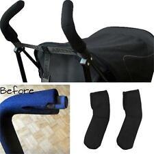 Black Baby Stroller Pram Pushchair Handlebar Handle Cover Bar Grip Sleeve Y