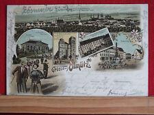 Farblitho - Grüsse aus Olmütz / Olomouc - gel 1897   m1