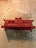 USED AMERICAN FLYER  CABOOSE SHELL/FRAME ONLY FOR PARTS