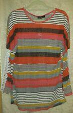 💎 NEU💎schicker Sommer-Pullover Sweatshirt / Gr. XL; 42/44 / Bunt Gestreift