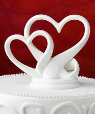 Double Heart Interlocking Cake topper- Wedding , Anniversary, Bridal Shower Gift