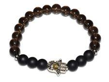 Smoky Quartz Bracelet Natural Black Stones Crystal Energy Healing Balance Unisex