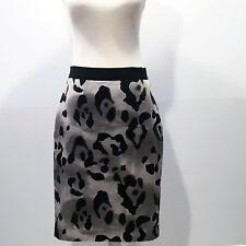 Ann Taylor Petites | Beige Animal Print Pencil Skirt in a Silk Blend– Size 2P