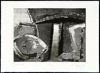 """DDR-Kunst. """"Steinbild"""", 1988. Aquatinta Christian LANG (*1953 D), handsigniert"""