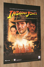 Indiana Jones and the Emperor's Tomb German Promo Poster 59x42cm PS2 Xbox
