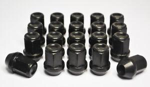 Set of 20 x M14 x 1.5, 19mm Hex Alloy Wheel Nuts (Black)
