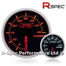 52mm Prosport Super Amber White Turbo Diesel 45 Psi Boost Gauge Kit - TDI DIESEL