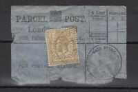 GB KGV 1925 1/- Parcel Post Label X9432