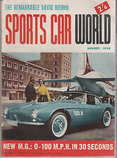 Sports Car World 1958 Aug Indianapollis BMW 503 MGA Bentley V3/5