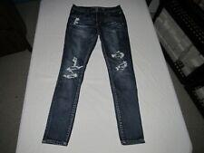 "American Eagle Women's Distressed Jegging Blue Denim Jeans Size 8 R Waist 30"""