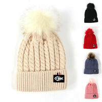 Mens Womens Ladies Winter Warm Knitted Oversized Slouch Bobble Pom Hat Beanie