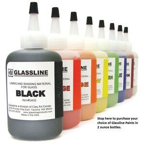 29 Choices GLASSLINE PENS 2 oz Bottle Glass Paint Glass Line Material Fusing