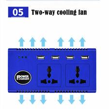 Car Power Inverter 12VDC to 220V AC Converter USB Charger Cigarette Lighter Blue