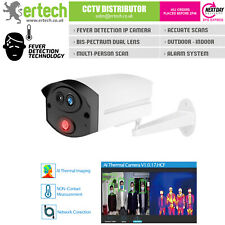 Fever Detection Face Body Temperature Thermal Scanner IP Camera Fire Heat Alarm