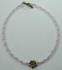 Handcrafted Foot & Ankle Jewelry Anklet Pink Crystal & Flower Stylish