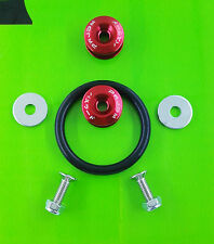 Quick Release Fasteners Kit Front Rear Bumpers Trunk Fender Hatch Aluminum Red