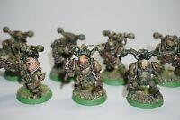 Warhammer 40k Chaos Space Marines Nurgle Death Guard Plague Marines x 7 LOT 478