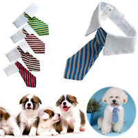 Gentleman Puppy Striped Tie Necktie Collar Clothes for Dog Cat Pet Supplies  Hw