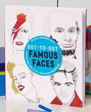 Famous Faces Connect The Dots Book For Adults Activity Art Therapy Hard 96 Pages