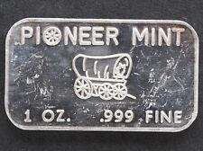 1974 Pioneer Commercial Bullion Silver Art Bar PM-7 Pioneer Mint P1182