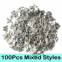 Wholesale 100pcs Bulk Tibetan Silver Mix Charms Pendants Jewelry Making DIY Bu