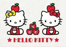 POSTER A4 PLASTIFIE-LAMINATED(1 FREE/1 GRATUIT)*DESSIN ANIME HELLO KITTY LOGO.2