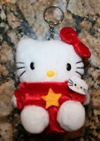 NEW Hello Kitty Sanrio Plush Hello Kitty in Red Outfit Keychain