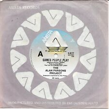 "THE ALAN PARSONS PROJECT - GAMES PEOPLE PLAY - 7"" 45 VINYL RECORD - 1980"
