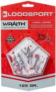 Bloodsport Wraith Turkey Lopper Fixed Blade 125 Grain Stainless Steel Broadhead