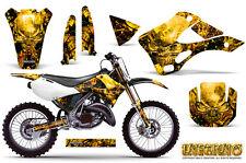 KAWASAKI KX125 KX250 99-02 GRAPHICS KIT CREATORX DECALS INFERNO Y