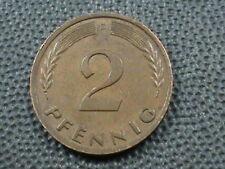 WEST GERMANY   2 Pfennig   1950  -  D   ,   $ 2.99  maximum  shipping  in  USA