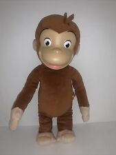 """Curious George Monkey Plush Doll Rubber Face 16"""" 2005 Marvel Toys"""