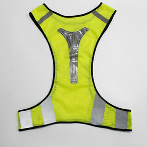 New Reflective Cycling/Running Vest With Led Lights Mens/Womens Outdoor Sport