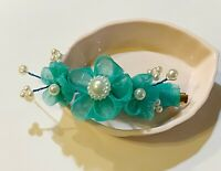 Japanese Kanzashi Hair Clip Made with Satin Fabric and Gater Clip