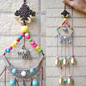 Elephant Wind Chimes Bells Metal Windchime Outdoor Garden Hanging Ornaments
