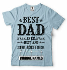Custom Names Father Day Gift Best Dad Custom Names Unique Father Gift T Shirt
