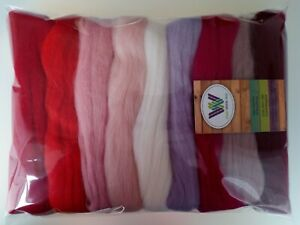 Valentine* Pure Merino Wool for Needle and Wet Felting packs of 30, 60 or 90 g