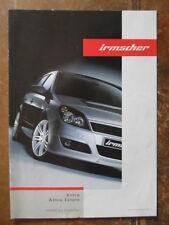 IRMSCHER ASTRA orig 2005 UK Mkt Accessories Sales Brochure - Vauxhall