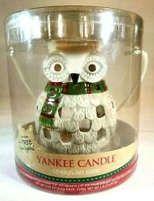 Yankee Candle Sparkling Snow Owl Luminary with 4 Tea Lights Holiday